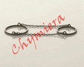 SLAVE RINGS - Skinny Bands Sterling Silver Rings and Chains. Made To Order