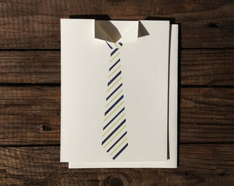 It's A Tie! Letterpress Card