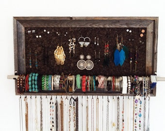 "15"" x 27"" Large Barn Wood Jewelry Organizer"