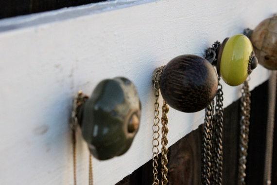 Mixed Green Knob: Jewelry Organizer
