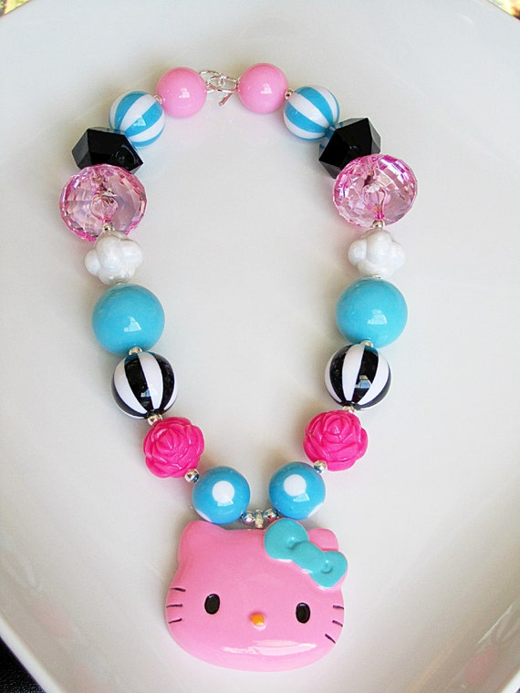 LAST ONE  Hello Kitty Chunky Necklace for Little Girls