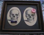 His & Hers Wedding   Print Vintage Reclaimed Recycled Materials