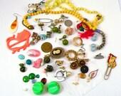 Destash Jewelry,  Broken, Odds, Super Kitsch Jewelry Supplies for Repurposing