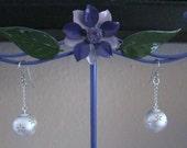 Silver Flower Ornament Earrings