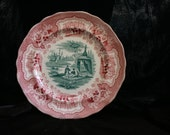 Rare Bi-Color Palestine Adams Antique Plate from the 1830's