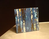 Alpheus, Mini-Abstract Original Acrylic on Wood by Rachel Dickson