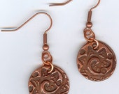 Copper Clay Earrings