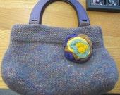 Purple Smoke:  Handmade East-West Style Handbag