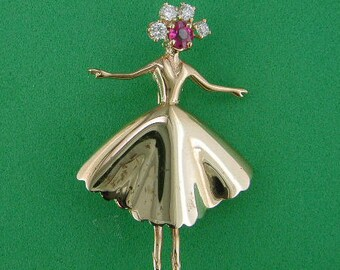 """Rose Gold Ballerina """"Coppelia"""" from Act II"""