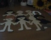 6 Paper Dolls & Accessories