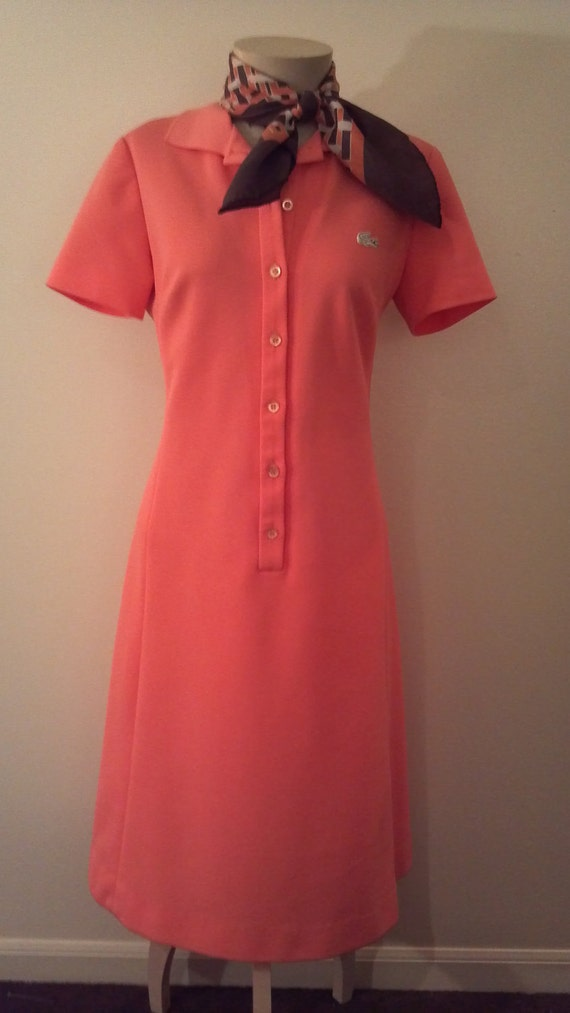 LACOSTE-David Crystal Lacoste Tennis Dress