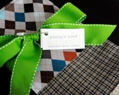 burp cloth set: argyle