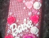 Custom iPhone 4 Pink 3D Barbie deco case