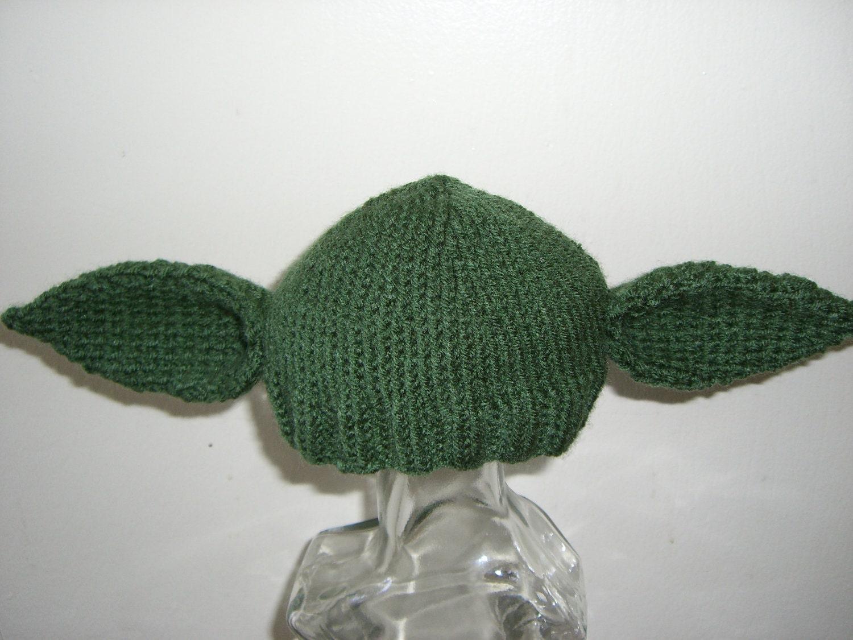 Knitted Baby Beanie Hat Yoda Starwars