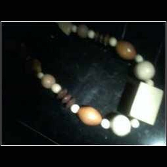 Southwest Wooden  Necklace...Coffee...