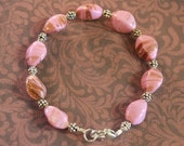 Pink with 24k Gold Dusted Murano Bracelet