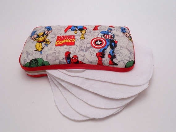 Marvel Comics Reusable Baby Wipes AND Case