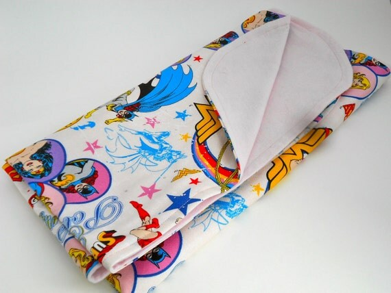 Super Girl DC Comics Girl Baby Blanket, Wonder Woman, Batgirl, Girl Power