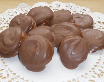 Chocolate Caramel Pecan Clusters - Caramel Chews - Caramel Pecan Clusters - Chocolate Favors