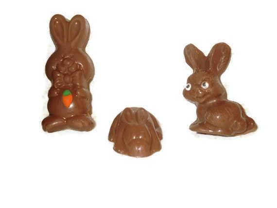 Chocolate Bunnies - Easter Chocolate - Solid Bunnies - Easter Basket Chocolate - Bunny Chocolate