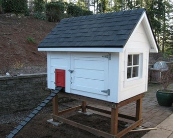 Idrys Chicken House-Elevated Chicken House For 8 Chickens