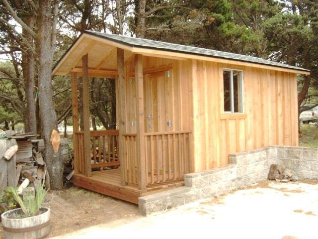 wood shed portable building built  order