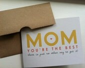 You're the Best MOM Card