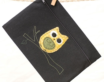 Small Clutch Owl Applique - Made to Order