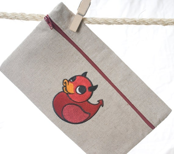 Zipper Pouch - Custom Order Devil Ducky
