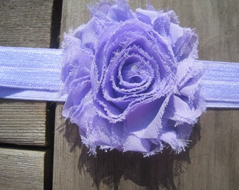 Lavender Flower Headband, Infant Headband, Infant Bow, Baby Bow, Baby Girl Bow, Baby Girl Headband, Baby Headband