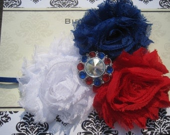 4th of July Baby Headband, Baby Headband, Baby Bow, Infant Headband, Newborn Headband, Baby Girl Headband, Infant Bow