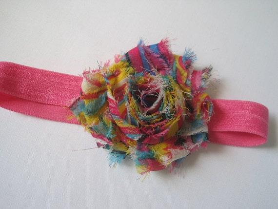 Deal of the Day,  Shabby Flower Headband, Baby Headband, Baby Bow, Infant Headband, Infant Bow, Newborn Headband, Baby Girl Headband