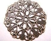 8pc antique copper 36mm filigree wrap-4068