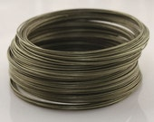 50 Circles Antique Bronze Stainless Steel Memory Wire For Bracelet Making 5.5cm-5553