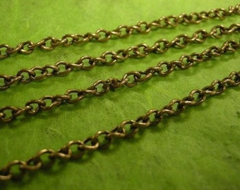 5 feet 5x3.5mm antique copper finish cross chain-610A