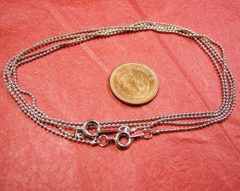 4 of 17 inches 1mm plantina finish Handmade Ball Chain Necklaces-3674