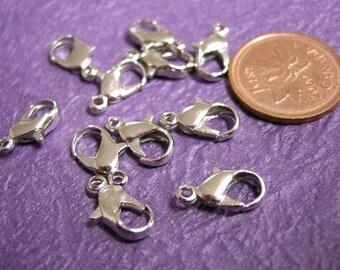 20pc nickel look metal lobster clasp-1487