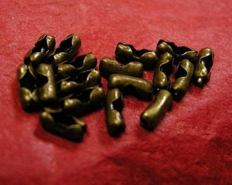 50pc antique bronze ball chain connector for 1-1.5mm-3591