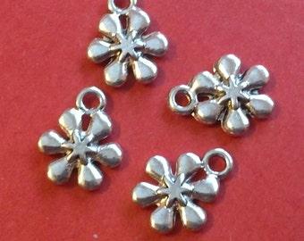 20pc 13x11mm antique silver flower metal pendants-1438