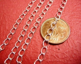 5 feet 5x3.5mm silver finish soldered cross chain-596A