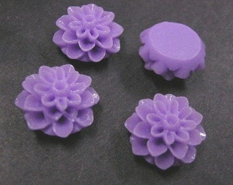 6pc Lilac Flower Cabochon-3871