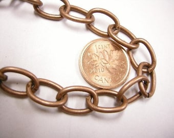 5 feet 13.5x9.5mm antique copper lead nickel free unsoldered chain-3981
