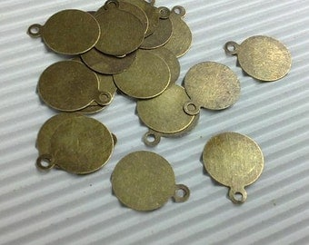 100pc antique bronze 10mm iron pendant-5135