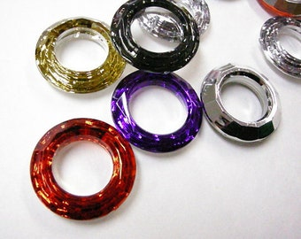 12pc 30mm mix color acrylic rhinestone rings-382 C