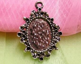 4pc antique silver metal alloy pendant-500