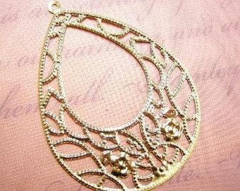12pc gold finish filigree teardrop pendants-1789x2