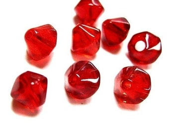 50pc 8mm bicone glass beads-3400