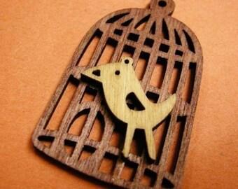 8pc bird with bird cage wood pendant-1067x4