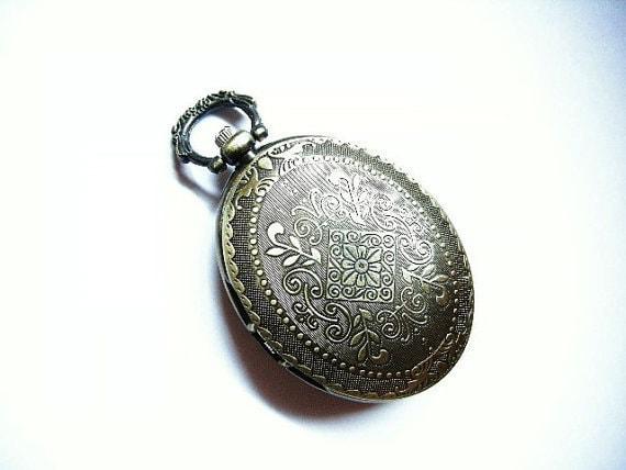 1 pc antique bronze fancy watch pendant-4914