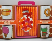 Retro Mug and Towel Set / NIB 1960s 1970s